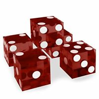 19mm Casino Dice with Razor Edges, Grade AAA, Matching Serial Numbers, Red