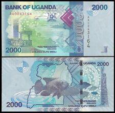 Uganda 2000 SHILLINGS 2010 P 50 UNC