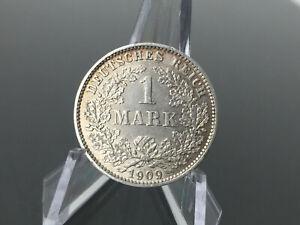 1 Mark - Kaiserreich - 1909 E - Silber Münze - sehr guter Zustand ss-vz