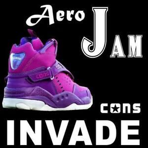 RARE LIMITED CONVERSE AERO JAM INVADE SPACE JAM LARRY JOHNSON PURPLE 146707C 9.5