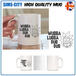 WUBBA LUBBA DUB DUB AND MORTY COFFEE AND TEA MUG CUP RICK  MG105