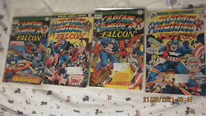 VINTAGE MARVEL COMICS CAPTAIN AMERICA AND THE FALCON LOT/RUN OF 4 194-197