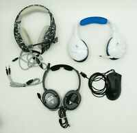 Lot of Gaming Headphones And Wired Mouse FOR PARTS or REPAIR