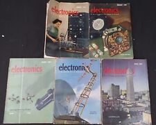 1940's Electronics Magazine Vtg Tube,Amps,Circuits,Ads,Mcgraw-Hill Lot of 5