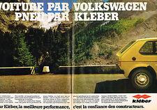 PUBLICITE ADVERTISING 114  1980  KLEBER pneus & VOLKSWAGEN ( 2p)