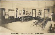 Boston MA Notre Dame Berkeley St. Assembly Hall c1910 Real Photo Postcard
