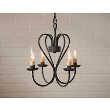 Irvin's Tinware Small 4 Arm Georgetown Metal Chandelier - Primitive Light - New