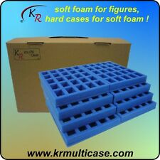 KR Multicase wargaming case & foam trays, carry 200 25mm metal figures (E-191)