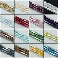 4mm 6mm 8mm 10mm round glass pearl spacer beads