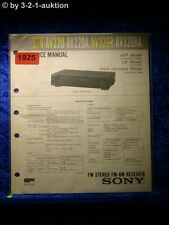 Sony Service Manual STR AV220 / AV220A / AV320R / AV320RA Receiver  (#1925)