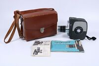 Vintage Electric Eye K7 Zoom 8mm Film Film Camera w/ Case & Manual
