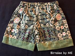 Boys Shorts Handmade by Birralee by ME Handmade using Aboriginal fabricSize3mth