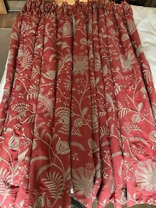 Gorgeous Colefax and Fowler triple pleat Curtains x2 Pairs