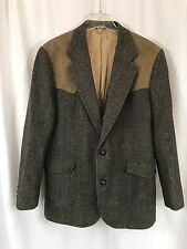 Vintage Pendleton Virgin Wool Western Elbow Patch Jacket 44 Long - Made in USA