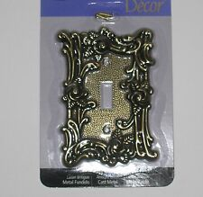 QTY. AVAILABLE--Antique Brass Shabby Rose Chic Switch Plate Cover