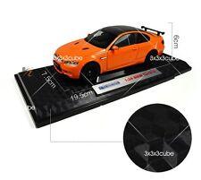 Orange 1:24 BMW M3 GTS Alloy Metal Diecast Model Sports Car KDW 1/24