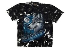 Vintage Rock Eagle Mens T Shirt XL Wolf Pack Full Moon Single Stitch Graphic