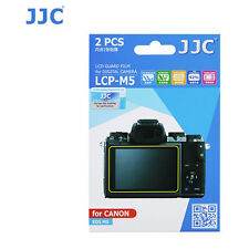 JJC LCP-M5 LCD Guard Film for Canon EOS M5 Digital camera Protector 2pcs Cover