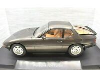 Coche Auto Porsche 924 Turbo Gris Escala 1/18 diecast miniaturas colección