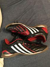 Adidas Predator Indoor Soccer Shoes, Art # 029333 (Black/Red) Men's Size 12
