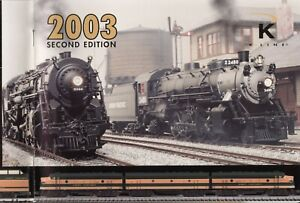 catalogo K-LINE 2003 2nd ed. O Gauge USA                E      cc