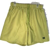 Speedo Men's Swim Shorts Trunks Size large Fully Lined With Pockets Green EUC