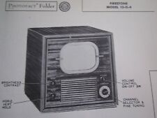 Firestone 13-G-4 Television Tv Photofact