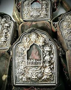 TIBETAN BUDDHIST GHAU, TRAVELLING SHRINE. SOURCED FROM KATHMANDU, NEPAL.