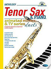 Animated Movies and TV Duets for Tenor Sax And Piano. Sheet Music, CD for Saxoph