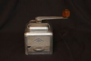 Vintage Mid-Century Moulux Aluminum Coffee Grinder Mill Made is France