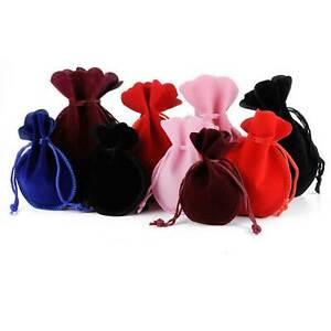 Jewellery Bags Pouches Mini Oval Velvet Gift Bags  Drawstring Wedding Favor