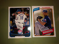 Yu Darvish Rookie Card Lot 2012 Bowman #209 And Topps Archives #119 Cubs Rangers
