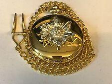 Fiore Peltro TG115 su un orologio da taschino in oro al quarzo Fob