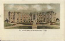 Biddeford ME Webber Hospital c1910 Tinted Real Photo Postcard