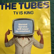 """TV Is King - Yellow - P/S Tubes 7"""" vinyl single record UK AMS7462 A&M 1979"""