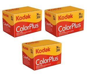 3 Rolls x KODAK ColorPlus 200 ISO Color Plus ASA 36exp 35mm 135 Film