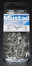 25 Pack Mustad 3561D-DT Size 4 Duratin Saltwater 3X Treble Hooks 3561D-04
