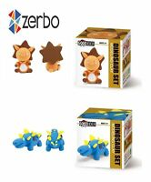 Zerbo Clay Modeling and Sculpting Set of 2 Dinosaurs Air-Dry Clay Set