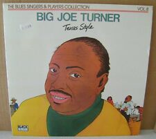 "Big Joe Turner Texas Style LP 12"" Vinyl Import Black & Blue Records 33.547/WE341"