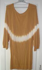 TRENDY Top manches 3/4 effet chauve souris tye and dye camel Moutarde MORGAN T M