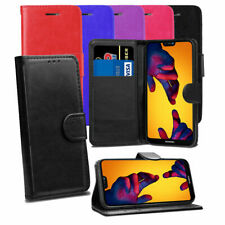 Case For Huawei P20 P30 Pro Lite Mate Genuine Leather Magnetic Wallet Flip Cover