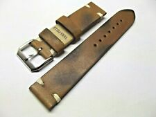 Cinturino Orologio vera pelle Cuoio Vintage marrone 18 20 22 mm watch straps