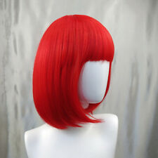 Bob Wig Women's Short Straight Bangs Full Hair Wigs Cosplay Party Halloween