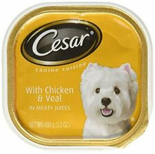 Cesar Soft Wet Dog Food Classic Loaf In Sauce Chicken & Veal Recipe, (24) 3.5 Oz