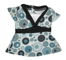 "Aqua Tunic with Circle Print Fits 18"" American Girl Dolls"