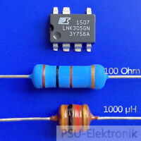 IC LNK305GN +1 Widerstand 100 Ohm + Drossel 1000µH  Reparaturset mit Anleitung