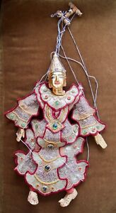 Puppet Marionette Wood Doll Burmese Folk Art Puppet,See all Photos for condition