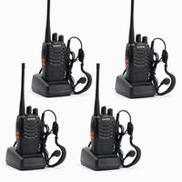 4*Baofeng/Pofung BF-888S UHF 400-470 MHz 2-way Amateur Ham Radio Talkie Walkie