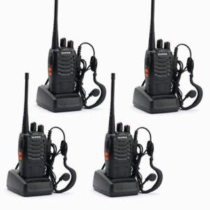Baofeng BF-888S UHF Business Amateur Ham Radio Talkie Walkie EU (Paquet de 4)