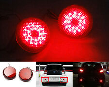 2x Red Lens LED for Toyota Scion Rear Bumper Reflector Tail Brake Stop Light